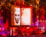 Things one might see at TomorrowWorld festivals. Illuminati symbols, occultist symbols, and characters from the unknown world trying to draw you in.