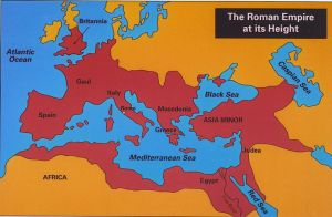 Roman empire at its height.