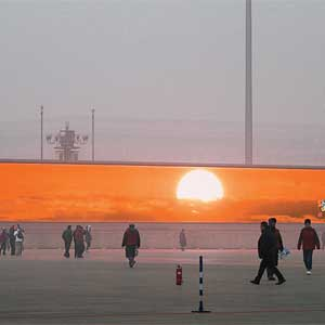China must broadcast videos of the sun because the smog is so bad