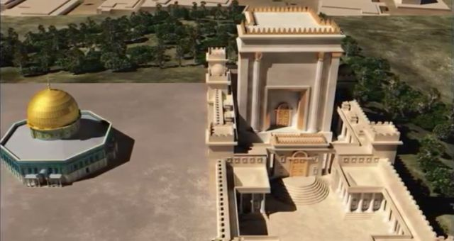 A computer representation of the third temple.