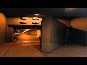 This underground bunker/city, has not only a 25-ton blast door but is well equipped with private apartments and food.