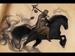 the black horse of Revelation