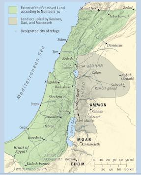 The land alotted to Abraham